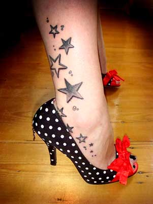 Amazing Foot Star Tattoos For Girls Picture 1