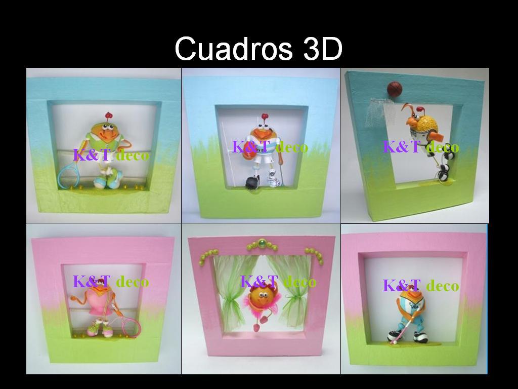 Cuadros 3d artesanales eleg el color y llevate el tuyo k t deco - Cuadros artesanales infantiles ...