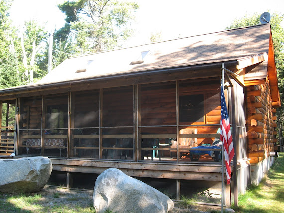 Front of Log Cabin