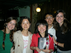 Giving a Bible to Chinese University students