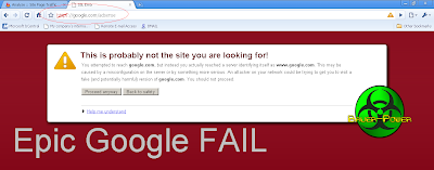 Google Chrome Epic Fail