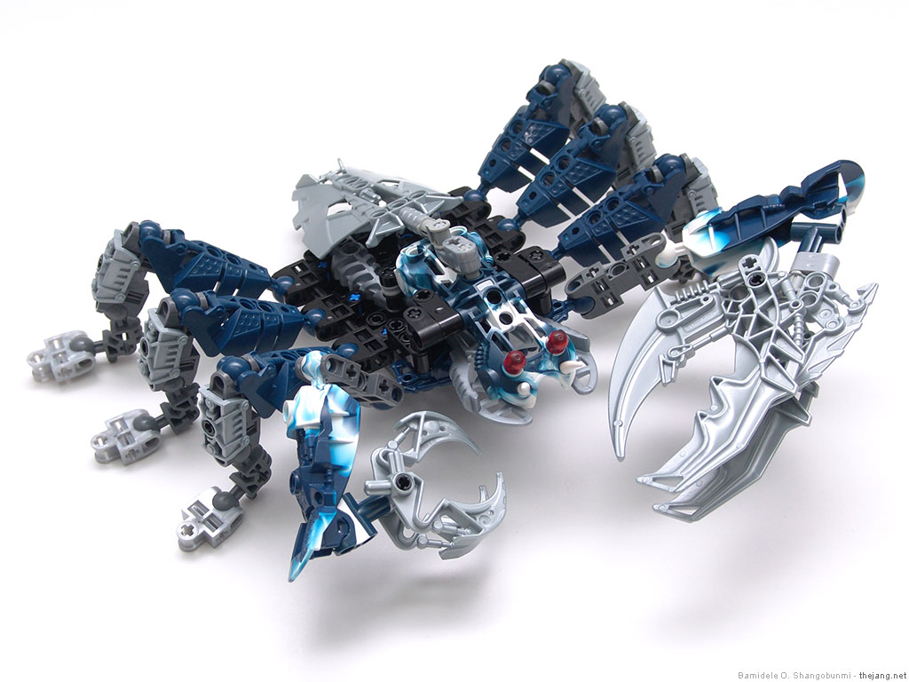 Bionicle MOC: Bohrok crab (top view) by MrSoundwave64Z on DeviantArt