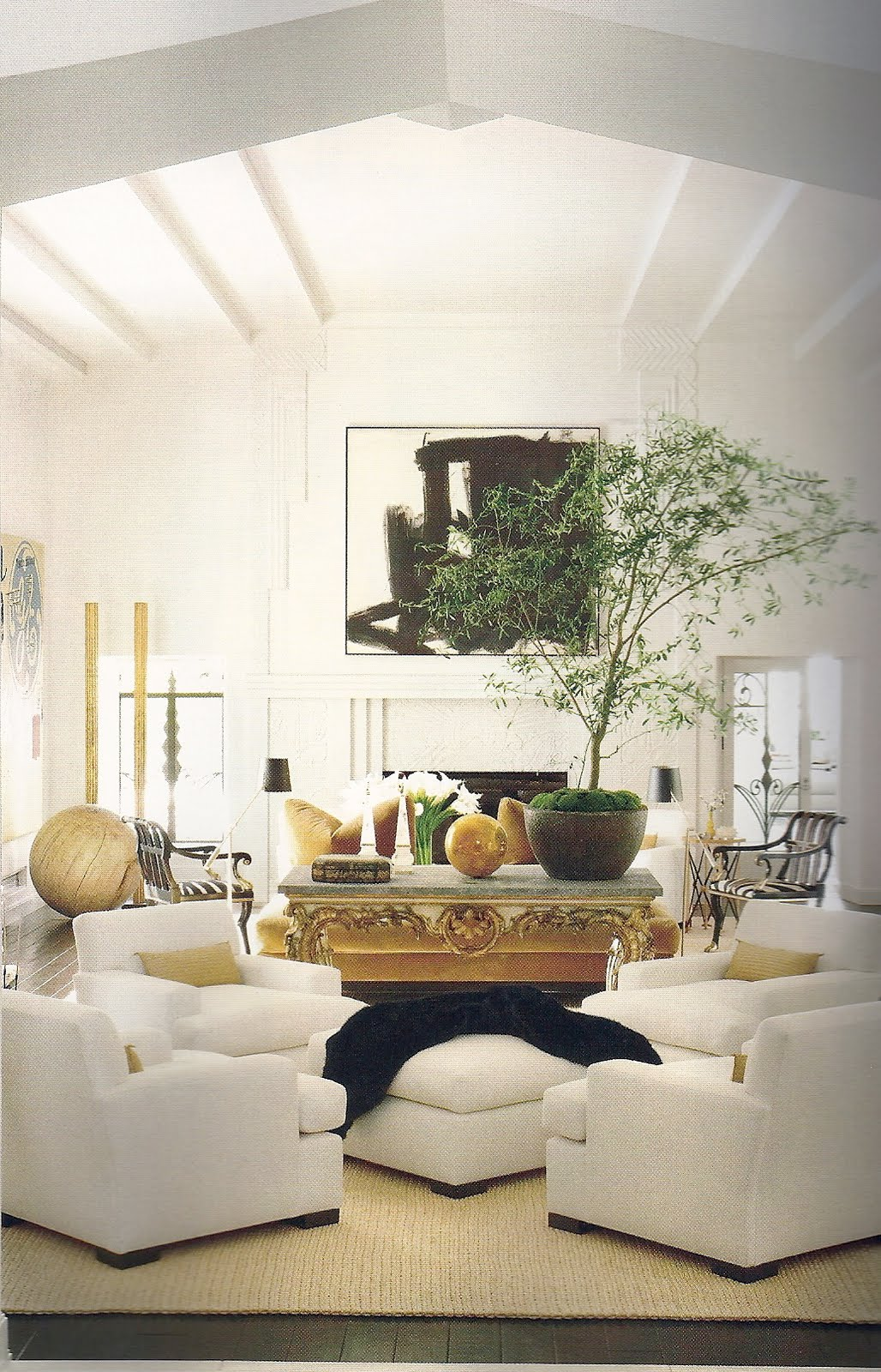 Richard hallberg in los angeles for Couch and sofa table in front of window