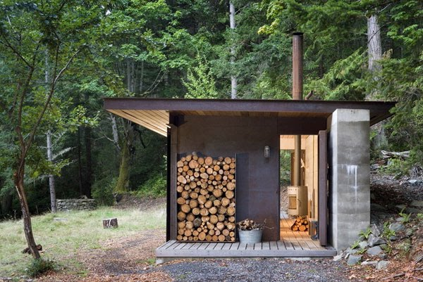 Modern one room modern cabin for One room log house