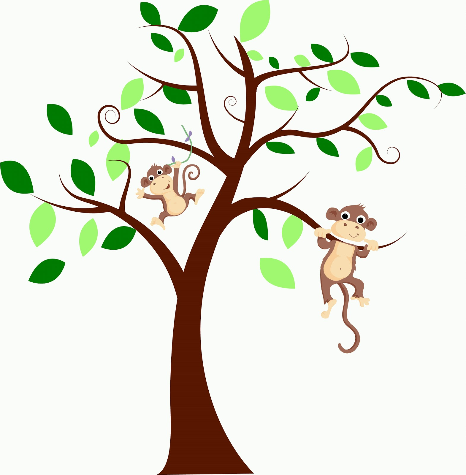 Vinyl On The Go: Tree with monkeys