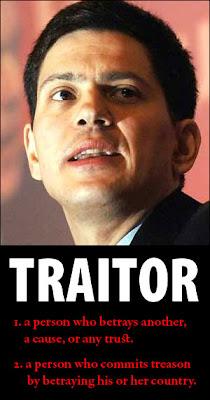 David Miliband: traitor