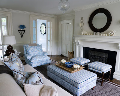Pics Living Rooms on The Living Room Of This Home Is Decorated Using Beautiful Cool Blue