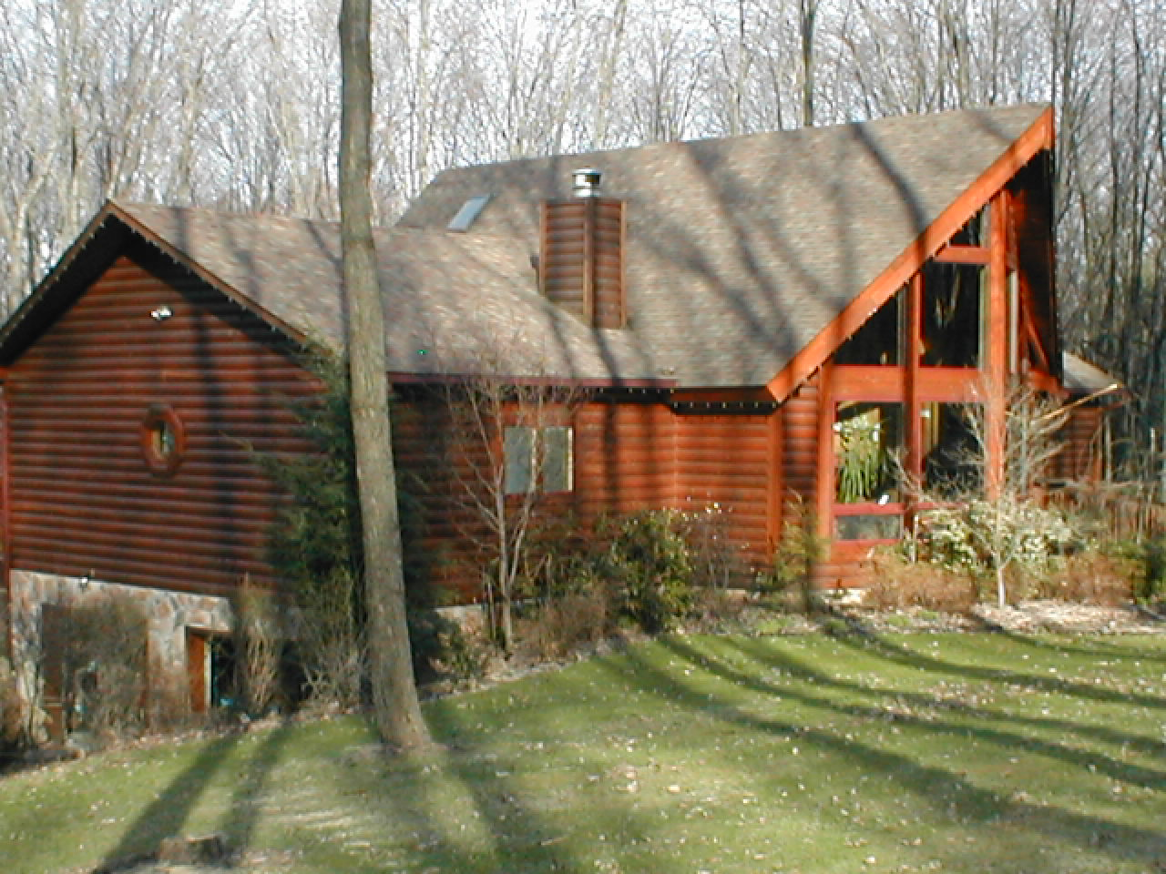 Marvelous photograph of Eco friendly and energy efficient equals a Cedar Log Home with #A25329 color and 1280x960 pixels