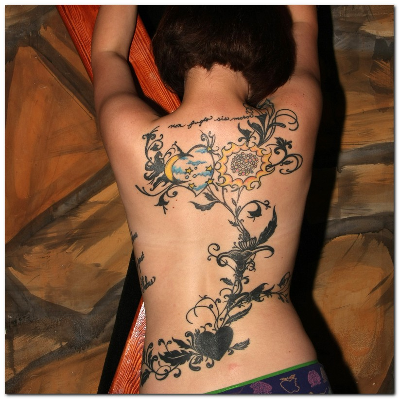 Vine Tattoos- back Vine Tattoos
