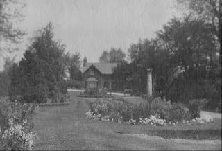 Lodge and gardens circa 1900