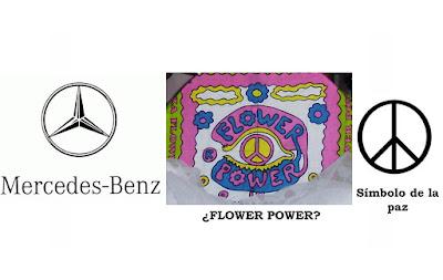 simbolo mercedes y simbolo de la paz