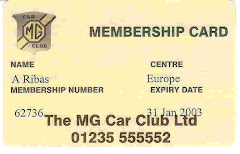 MG Car Club Ltd.  England