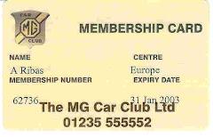 MG Car Club Ltd.  England
