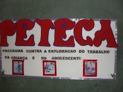 As iniciativas do PETECA estão sendo realizadas com o PETI e os Alunos da Escola Manoel Leite.