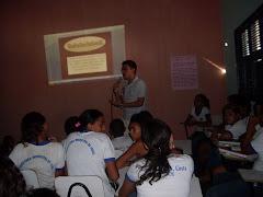 Palestra do PETECA com membro do Conselho Tutelar na E.E.F Miguel Nunes