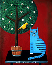 Blue Cat and Yellow Bird