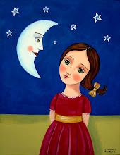 Cute Girl with Moon