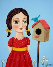 Girl with Birdhouse
