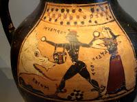 Κορινθιακό Αγγείο με τον Περσέα, την Ανδρομέδα και το Κήτος