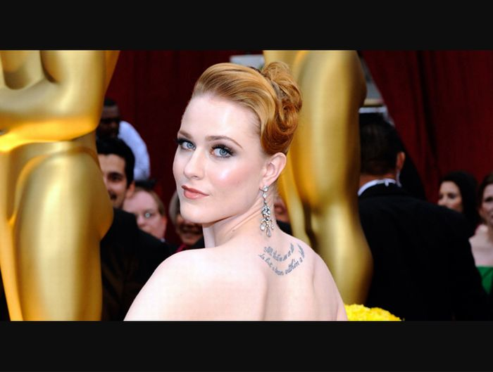 evan rachel wood tattoo. Evan Rachel Wood