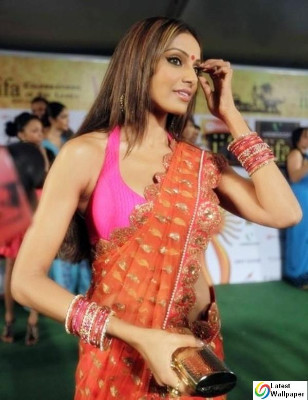 Bipasha Basu Sweet Cleavage at IIFA 2010 Sizzles in orange Saree ...