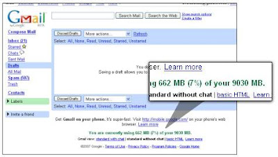 Gmail 9030 MB Storage(有9030 MB储存空间的Gmail)