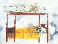 Image of Frida Kahlo's painting, The Dream