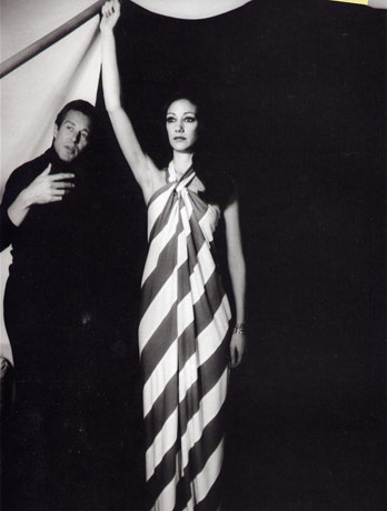 Halston and Marisa Berenson