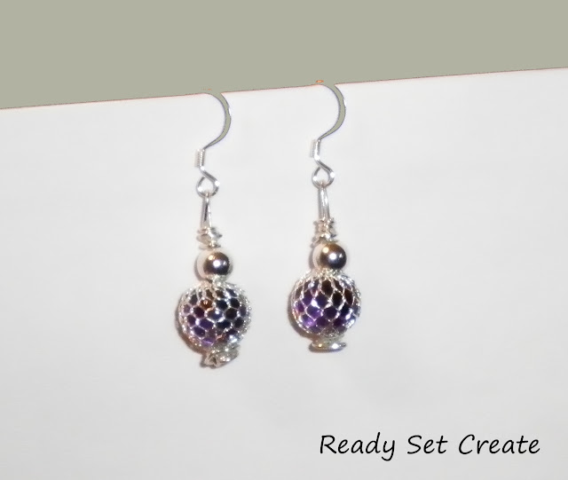 crafty jewelry: wire beaded earrings tutorial