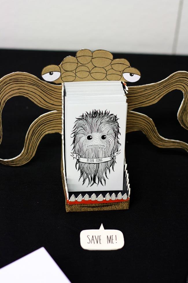 peter fong business card holder monster