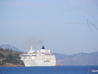 Cruise ship in Fethiye Harbour