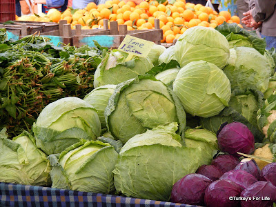 Huge Cabbages At Çalış Market