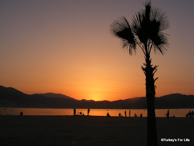Fethiye Harbour At Sunset