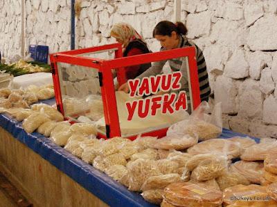 Yufka at Fethiye Market