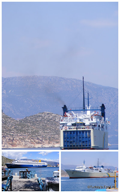 Greek Ferries in Meis Harbour
