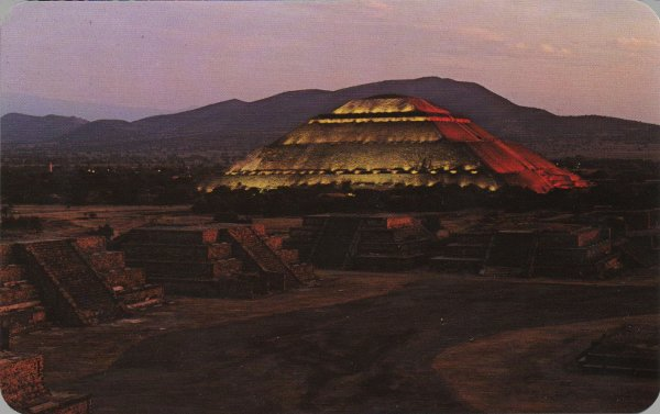 Teotihuacan by night