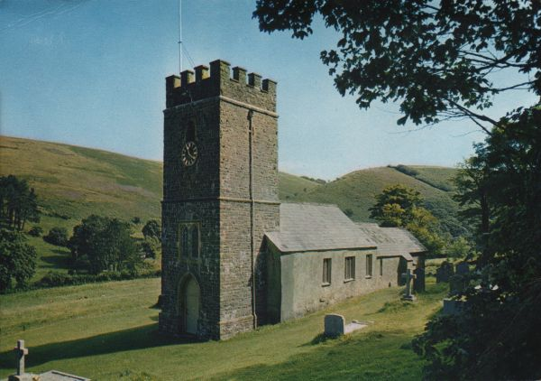 small, stone built, country church in Exmoor