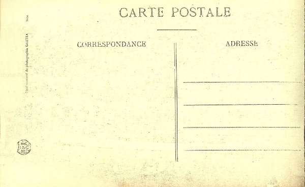reverse of the postcard showing divided back