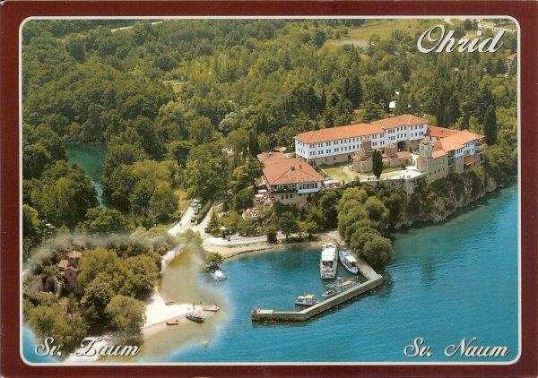 St Naum monastery on Ohrid lake-side
