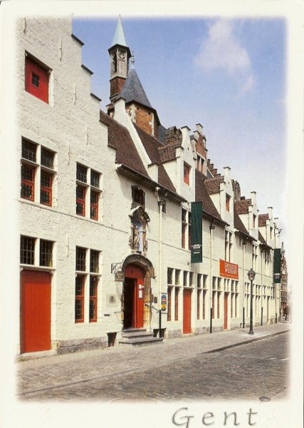 typical Dutch style houses once almshouses