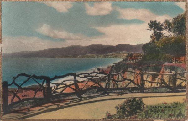 View of the coast at Santa Monica