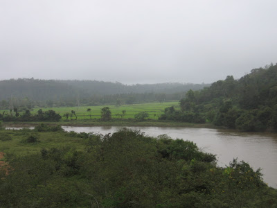 Flowing river in Malnad