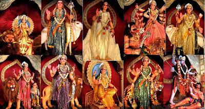 Idols of Navadurgis at Kudroli, Mangalore