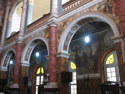 Paintings of life of Jesus Christ in St.Aloysius Chapel, Mangalore