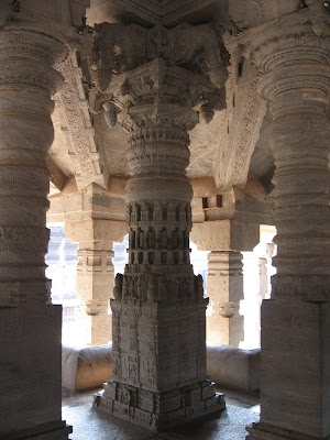 Pillars of Thousand Pillar Temple, Moodabidri