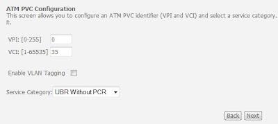 BSNL DSL Router ATM PVC Configuration