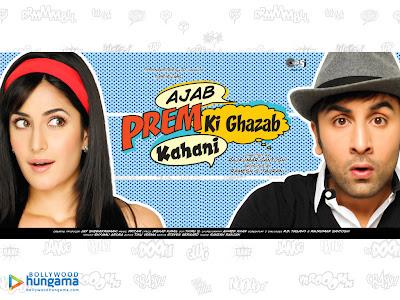 Ranbir Kapoor and Katrina Kaif in Ajab Prem Ki Ghazab Kahani