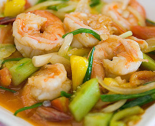Sweet and Sour sauce fried with Prawn
