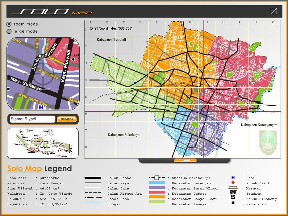 Peta kota solo untuk peta chicago dapat diihat di http