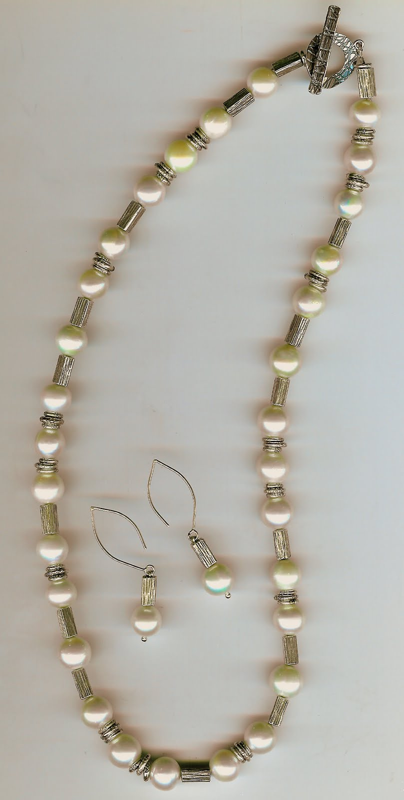 181. Akoya Pearls with Karen Hill Thai Sterling Silver + Earrings
